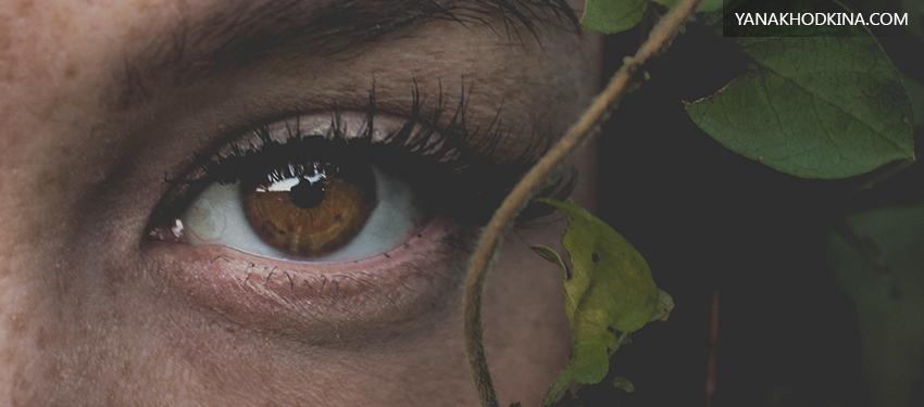 эффект красных глаз на фото