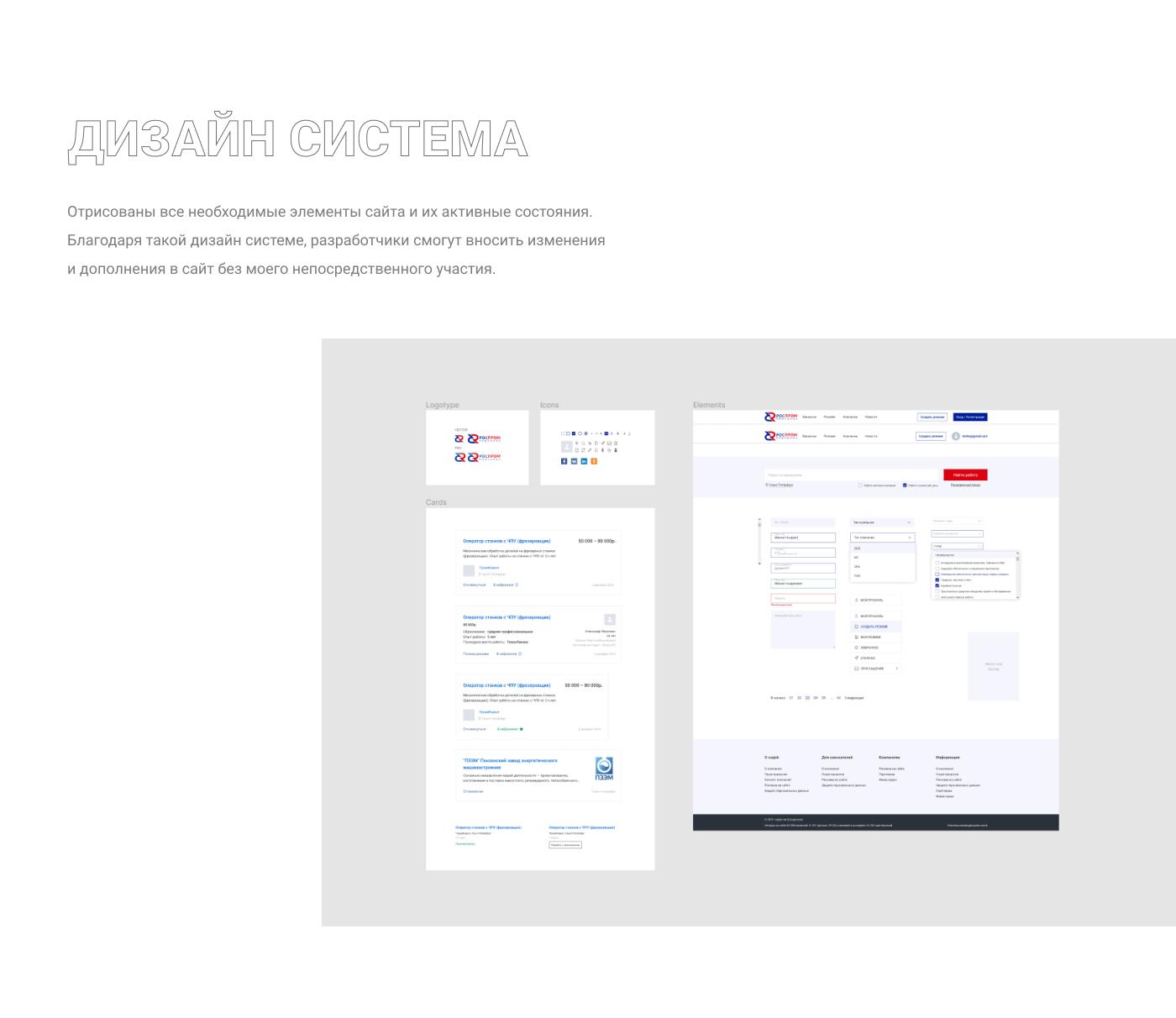 Дизайн система. Портфолио дизайнера сайтов