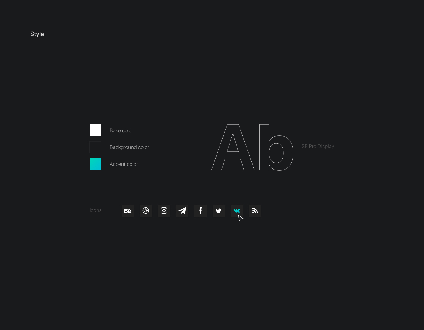 пример типографики на сайте. Дизайн