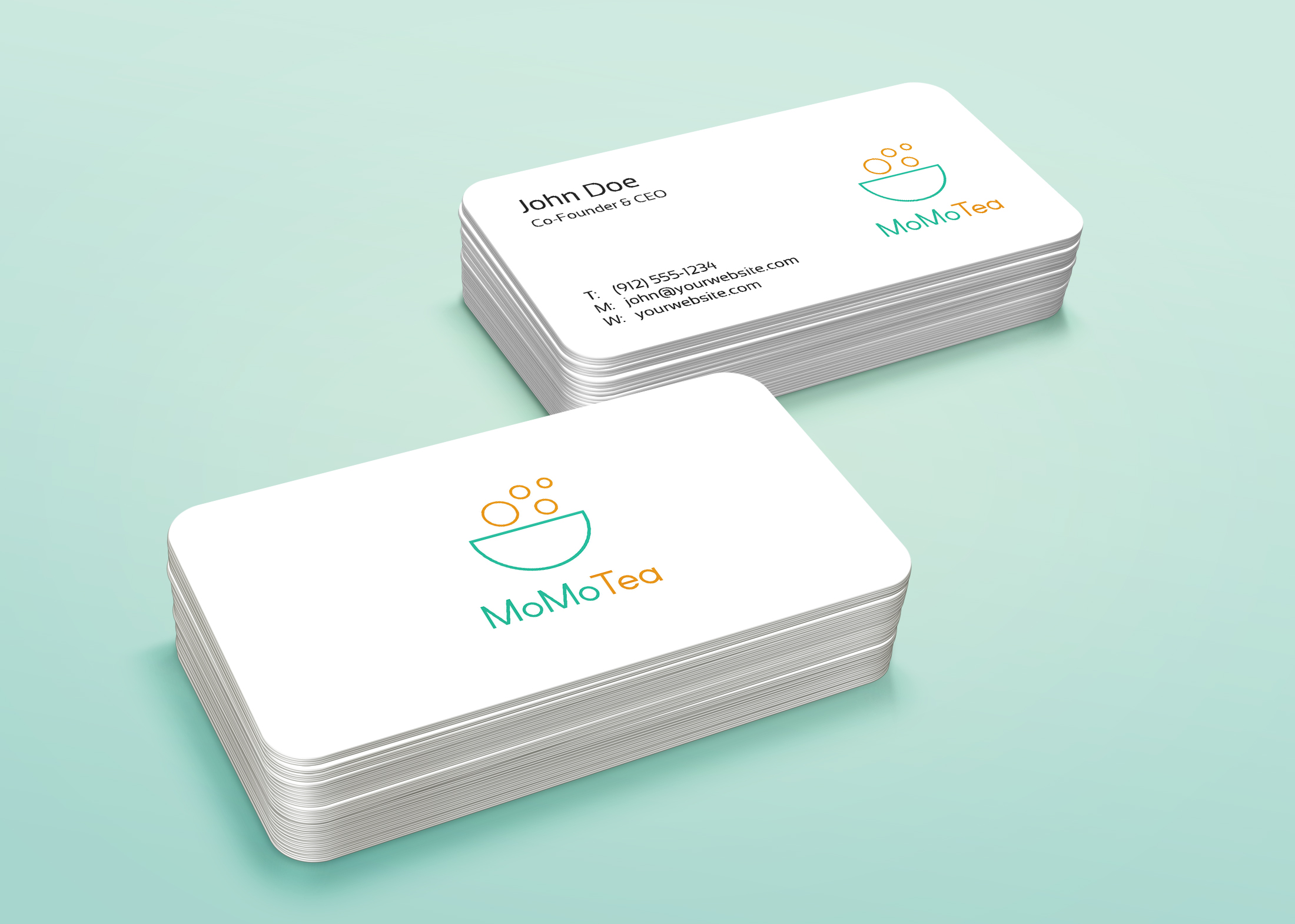 дизайн визитки в легком стиле