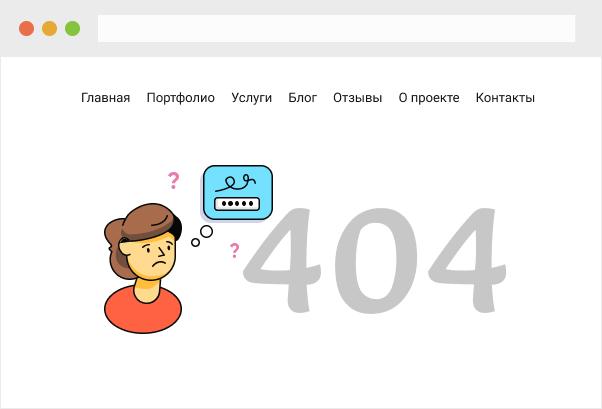 404 страница пример стоимости дизайна сайта
