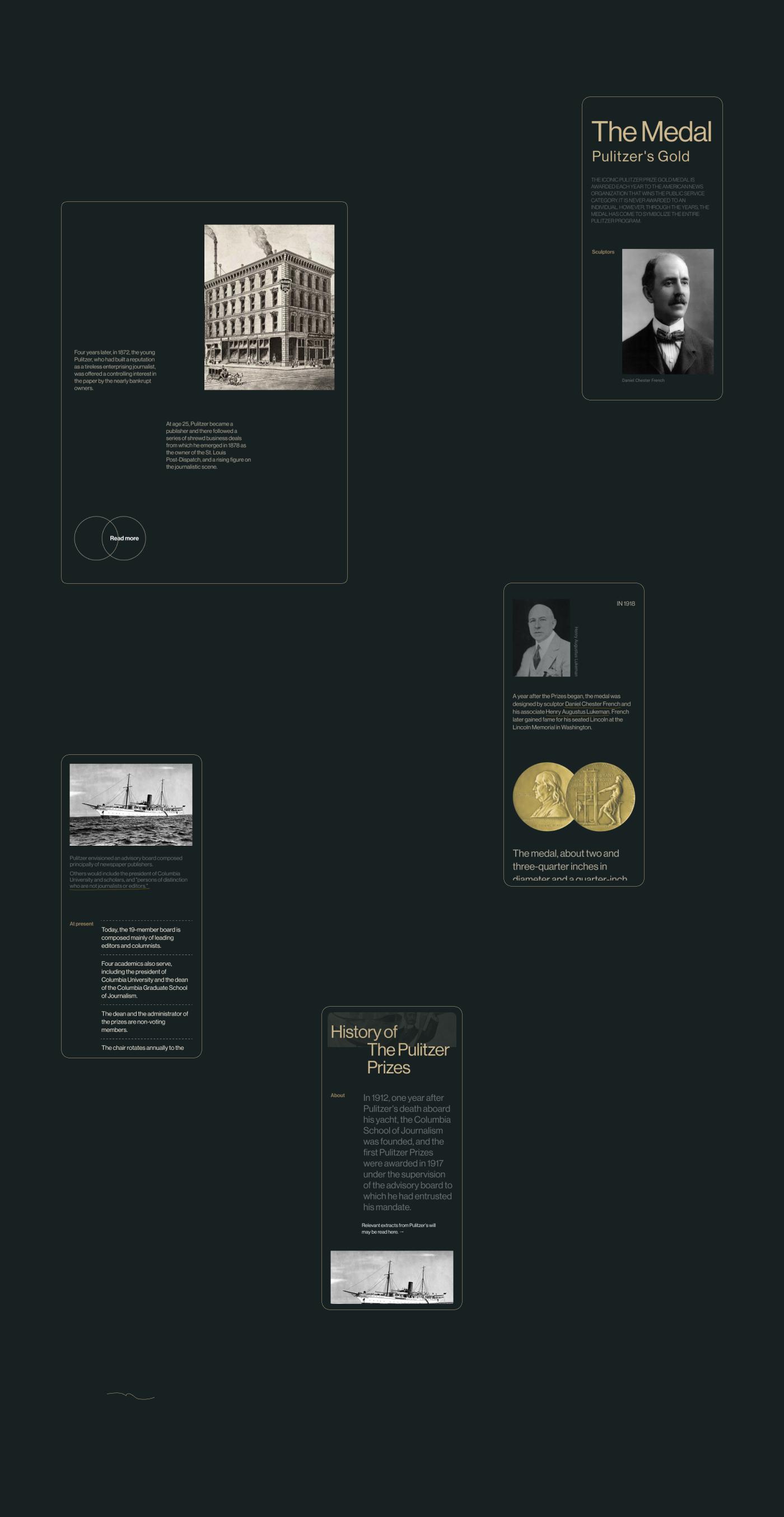 Редизайн внутренних страниц