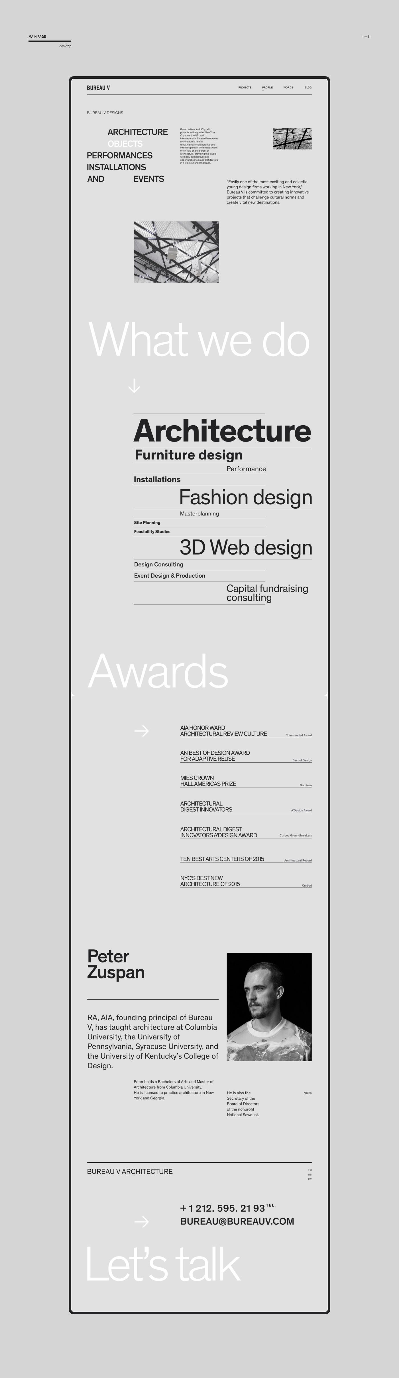 Сайт архитектурного бюро. Дизайн концепция