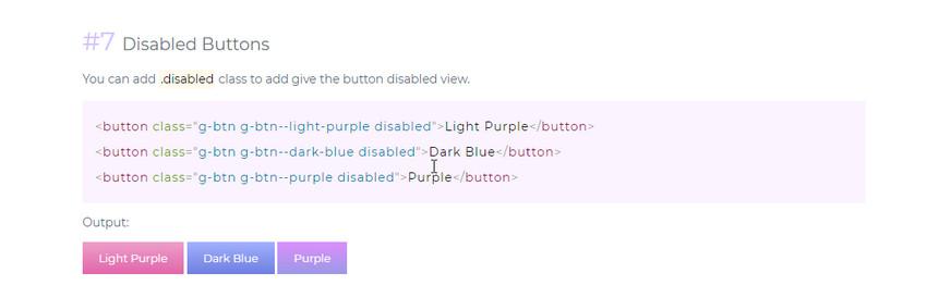 градиентные кнопки. Сайт.