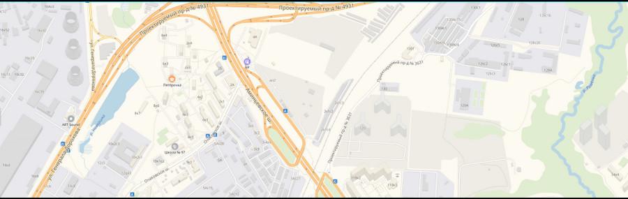 карта проезда в подвале сайта