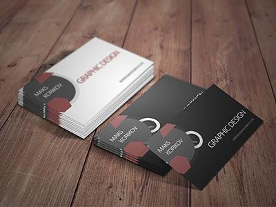 макет визитки дизайнера