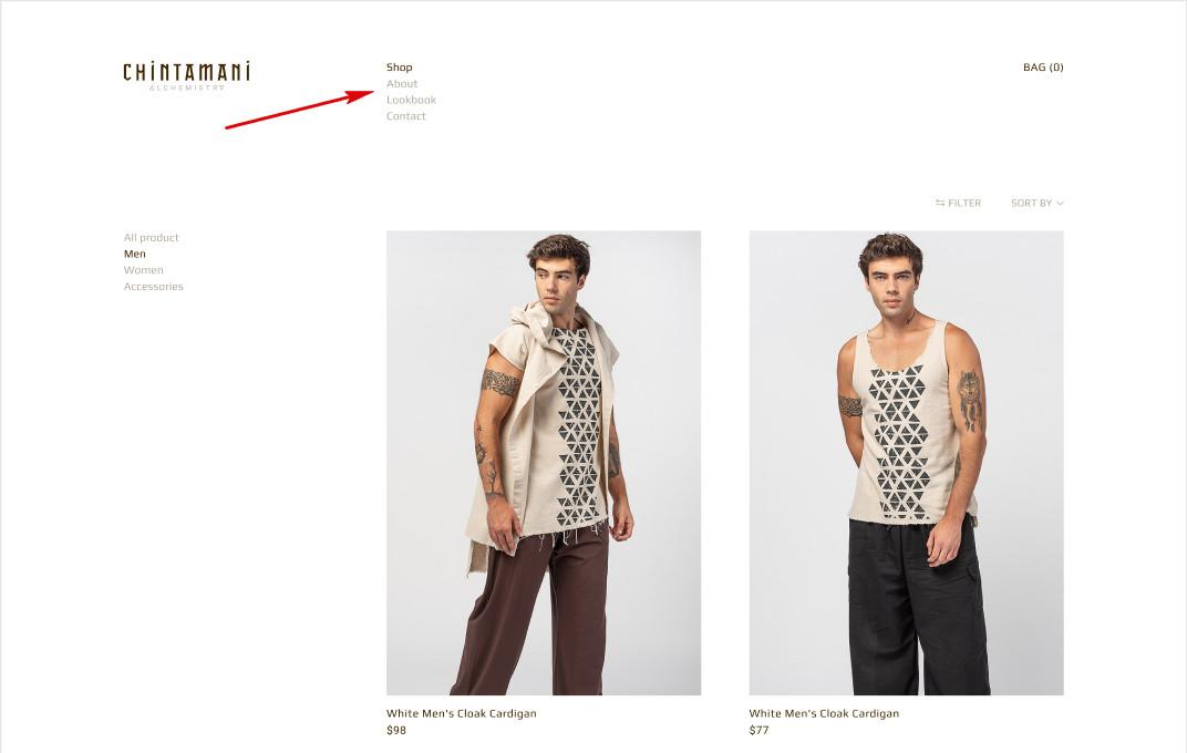 пример дизайна сайта с вертикальным меню